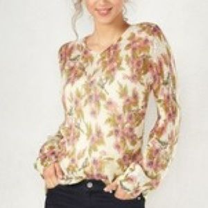 Sweaters - Disney Lauren Conrad floral tunic sweater size XL
